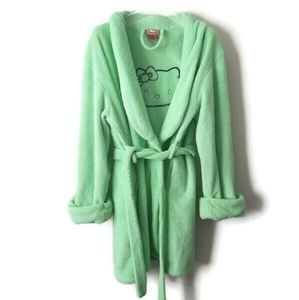 Hello Kitty Robe Green sz Medium